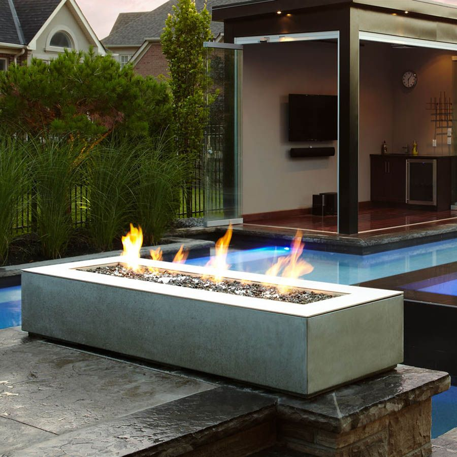 Paloform Robata Modern Rectangular Concrete Outdoor Fire Pit intended for dimensions 900 X 900