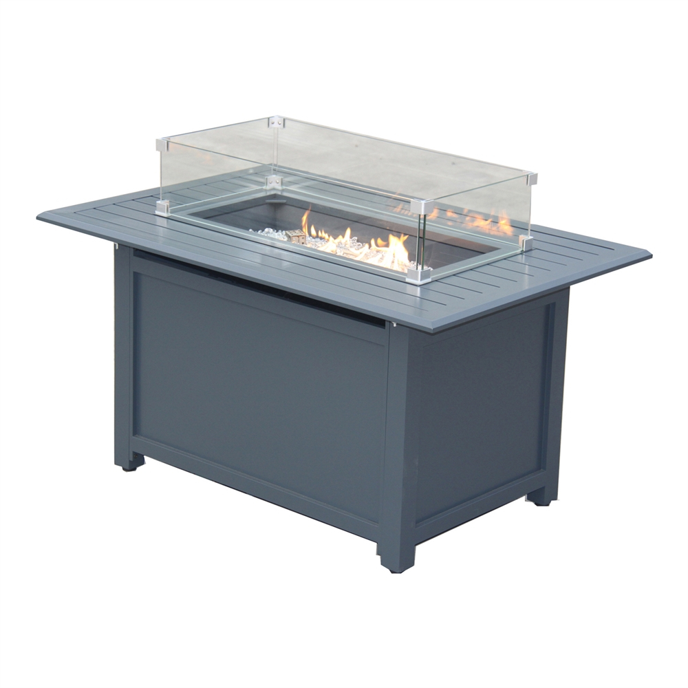 Paramount Gale Aluminum Convertible Fire Pit Table With Windscreen throughout sizing 1000 X 1000