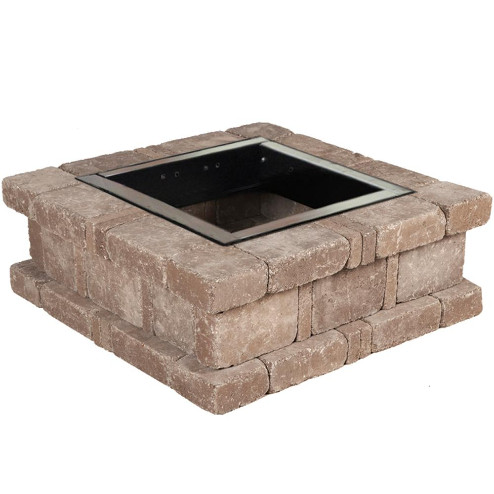 Pavestone Rumblestone 385 In X 14 In Square Concrete Fire Pit Kit inside proportions 1000 X 1000