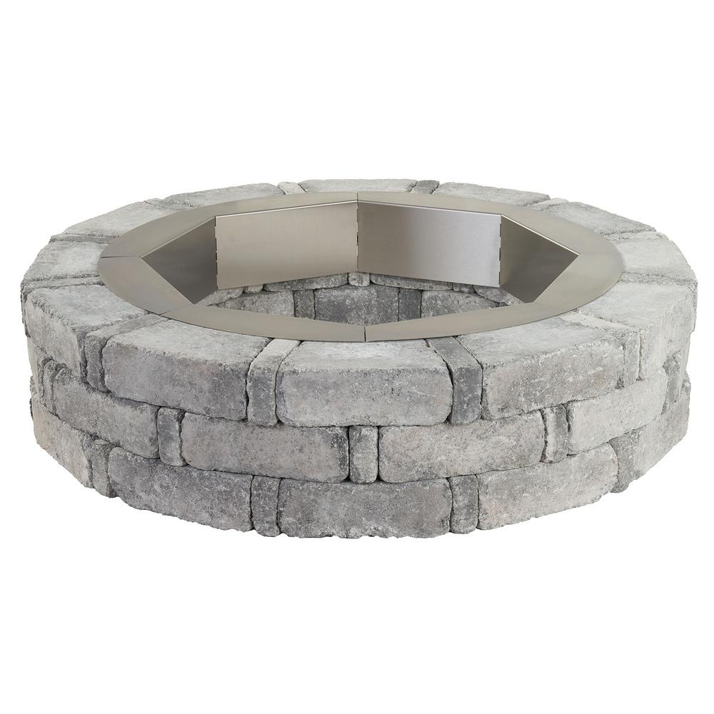 Pavestone Rumblestone 46 In X 105 In Round Concrete Fire Pit Kit in measurements 1000 X 1000