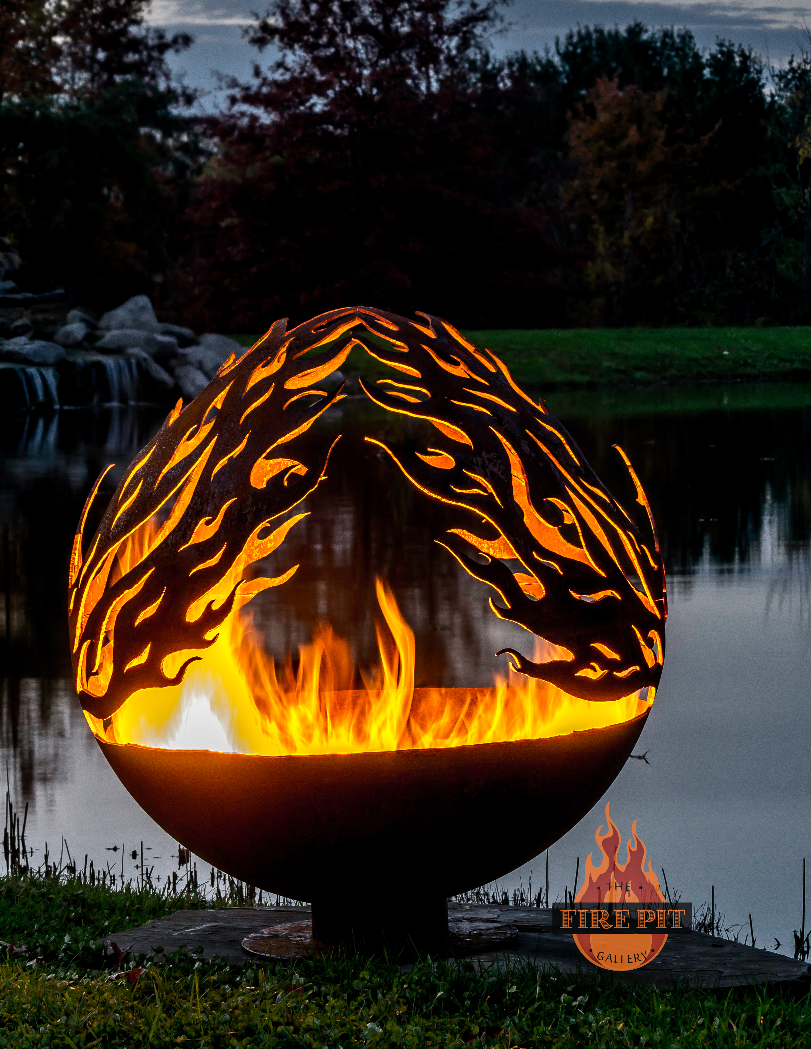 Phoenix Rising Fire Pit Sphere The Fire Pit Gallery in sizing 2760 X 3572