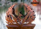 Phoenix Rising Fire Pit Sphere The Fire Pit Gallery with regard to proportions 2673 X 3459