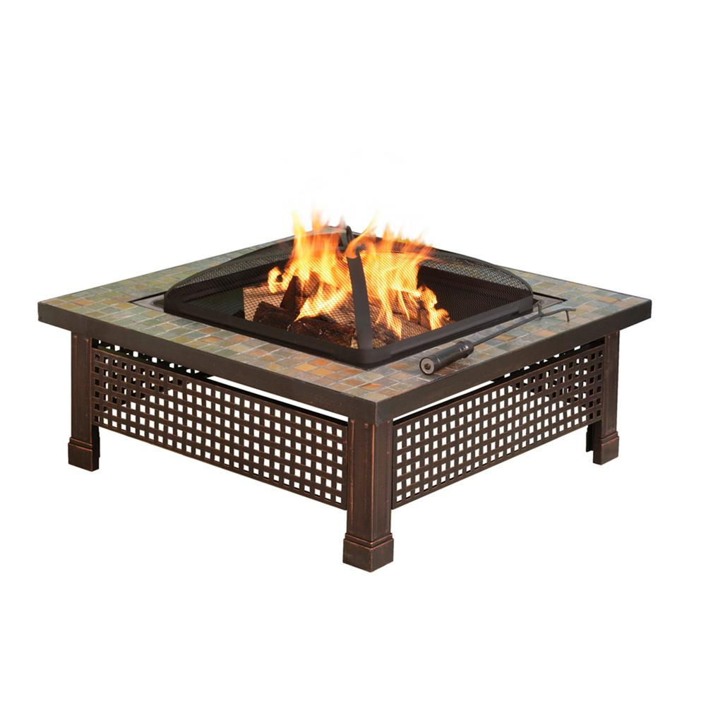 Pleasant Hearth Bradford 34 In X 1969 In Square Steel Wood Fire inside dimensions 1000 X 1000