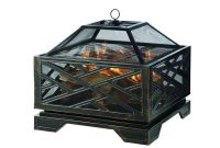 Pleasant Hearth Martin 26 In X 26 In Square Deep Bowl Steel Wood within size 1000 X 1000