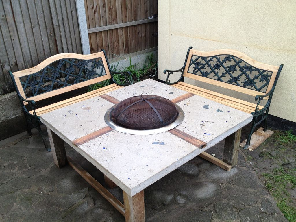 Polished Concrete Fire Pit Table 7 Steps With Pictures in sizing 1024 X 768