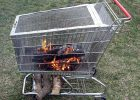 Portable Fire Pit With Built In Log Storage Rack 6 Steps With with regard to proportions 1024 X 857