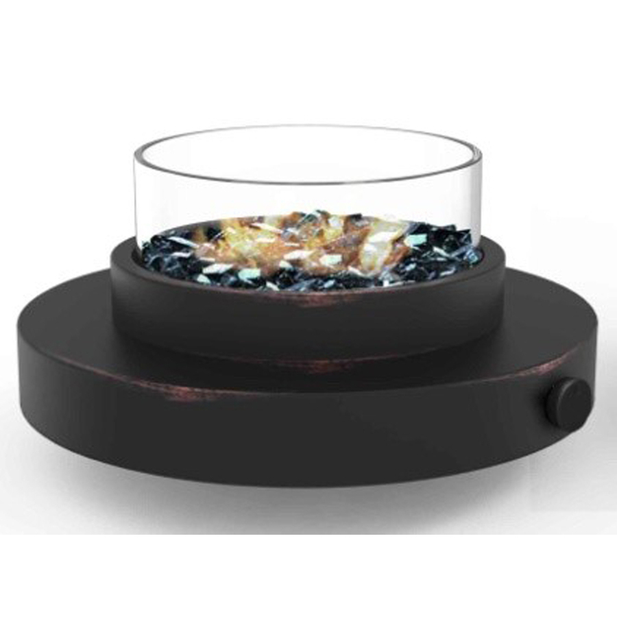 Portable Tabletop Fire Pit Steel Liquid Propane Firebowl Centerpiece inside size 900 X 900