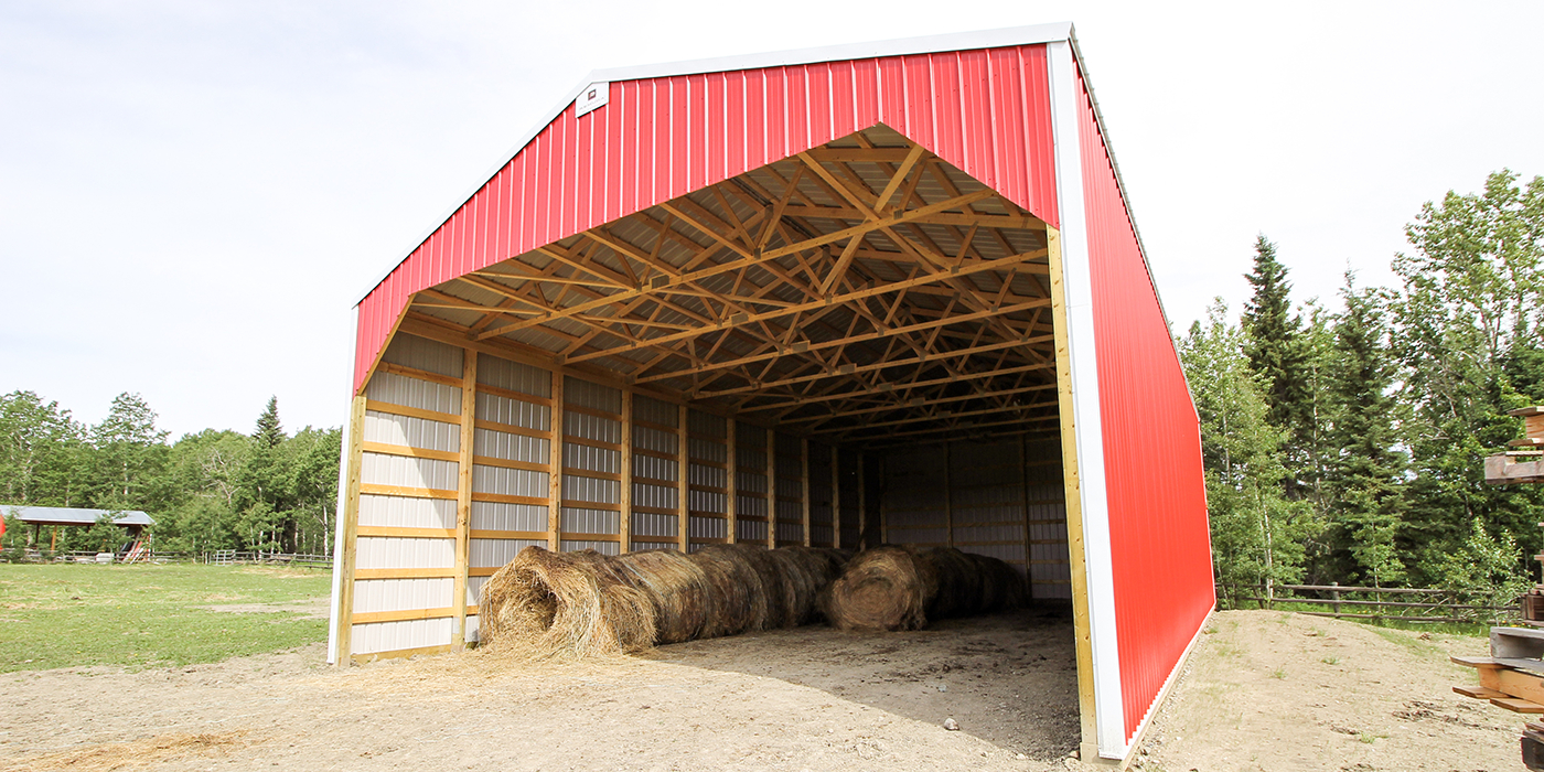 Post Frame Hay Storage Buildings Alberta Hay Sheds Remuda in dimensions 1400 X 700