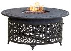 Propane Cast Aluminum Fire Pit With Scroll Design Click To View Full within measurements 1154 X 1154