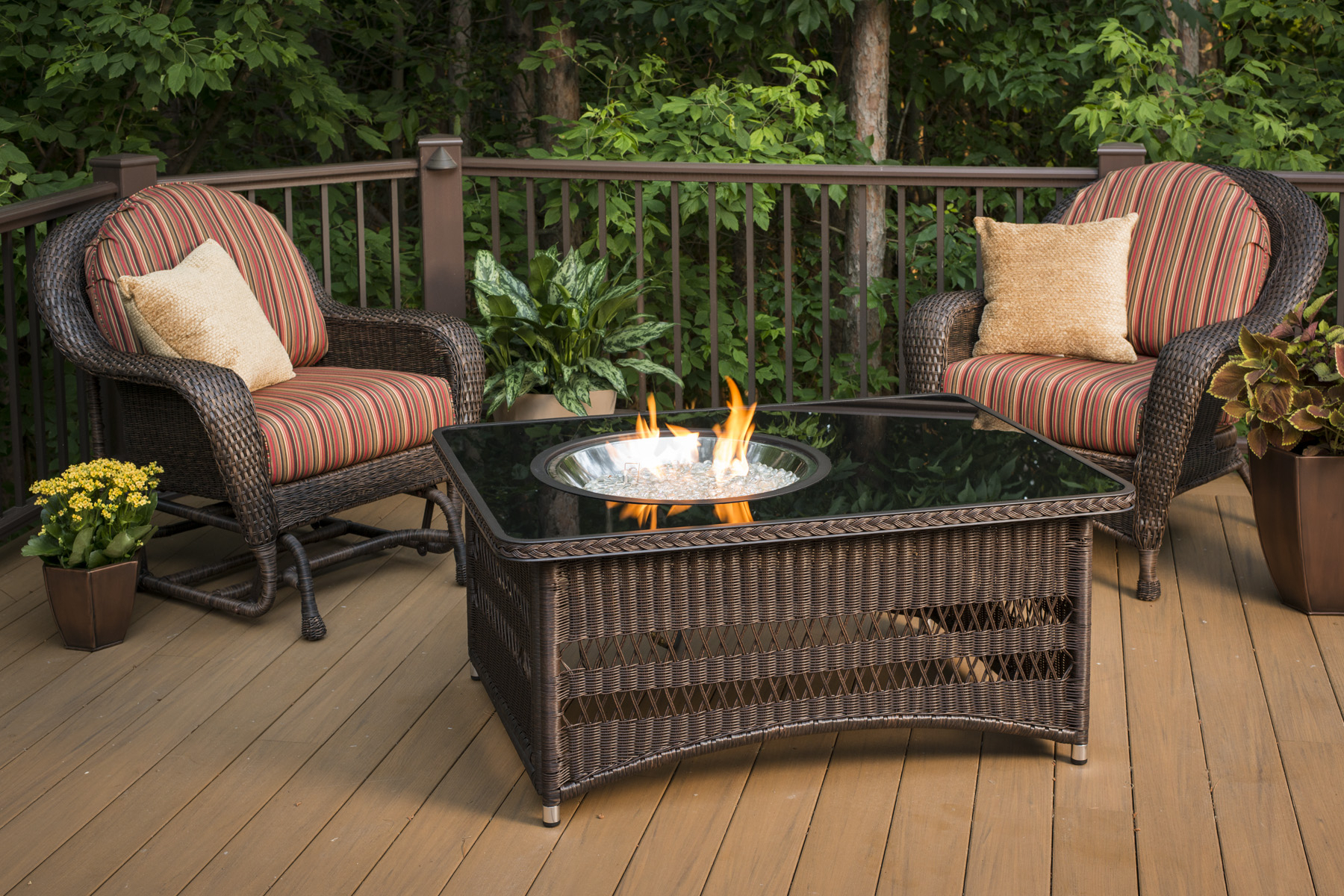 Propane Fire Pit On Wooden Deck Decks Ideas with proportions 1800 X 1200