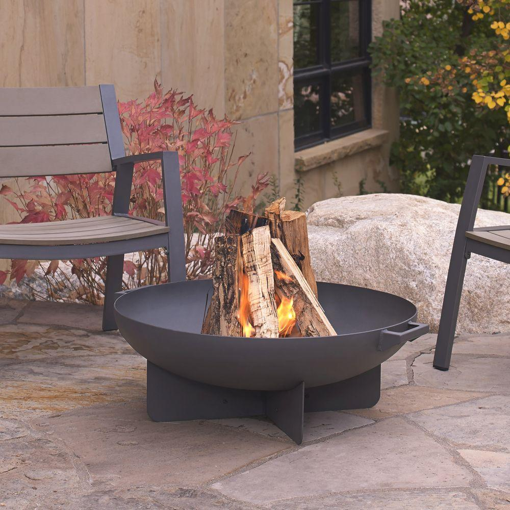 Real Flame Anson 32 In Wood Burning Steel Fire Bowl In Gray 958 Gry for dimensions 1000 X 1000