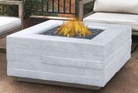 Real Flame Board Form Concrete Propane Fire Pit Table Wayfair with measurements 1516 X 1516