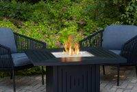 Real Flame Cavalier 43 In Aluminum Propane Fire Pit Table In Black pertaining to proportions 1000 X 1000
