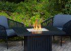 Real Flame Cavalier 43 In Aluminum Propane Fire Pit Table In Black throughout dimensions 1000 X 1000