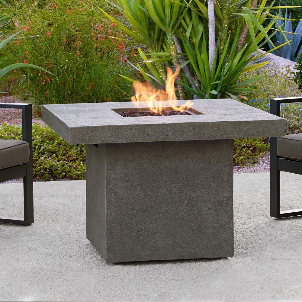 Real Flame Ventura 36 In Fiber Concret Square Chat Height Propane intended for sizing 1000 X 1000