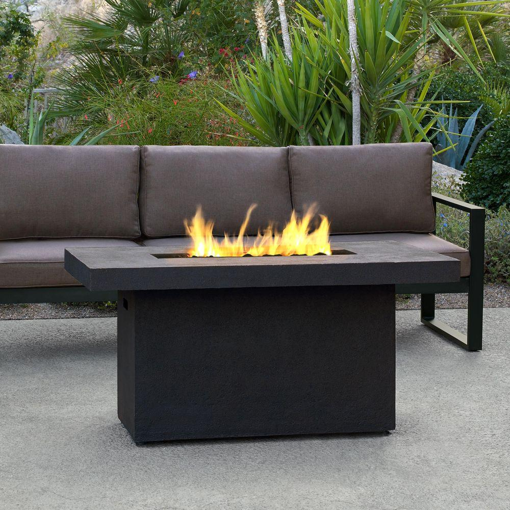Real Flame Ventura 50 In Fiber Concret Rectangle Chat Height throughout measurements 1000 X 1000