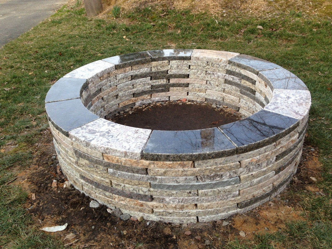 Recycled Granite Fire Pit Kit throughout proportions 1066 X 800