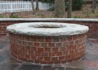 Red Brick Firepit With Stone Cap Fireplaces And Firepits Fire for proportions 1080 X 1620
