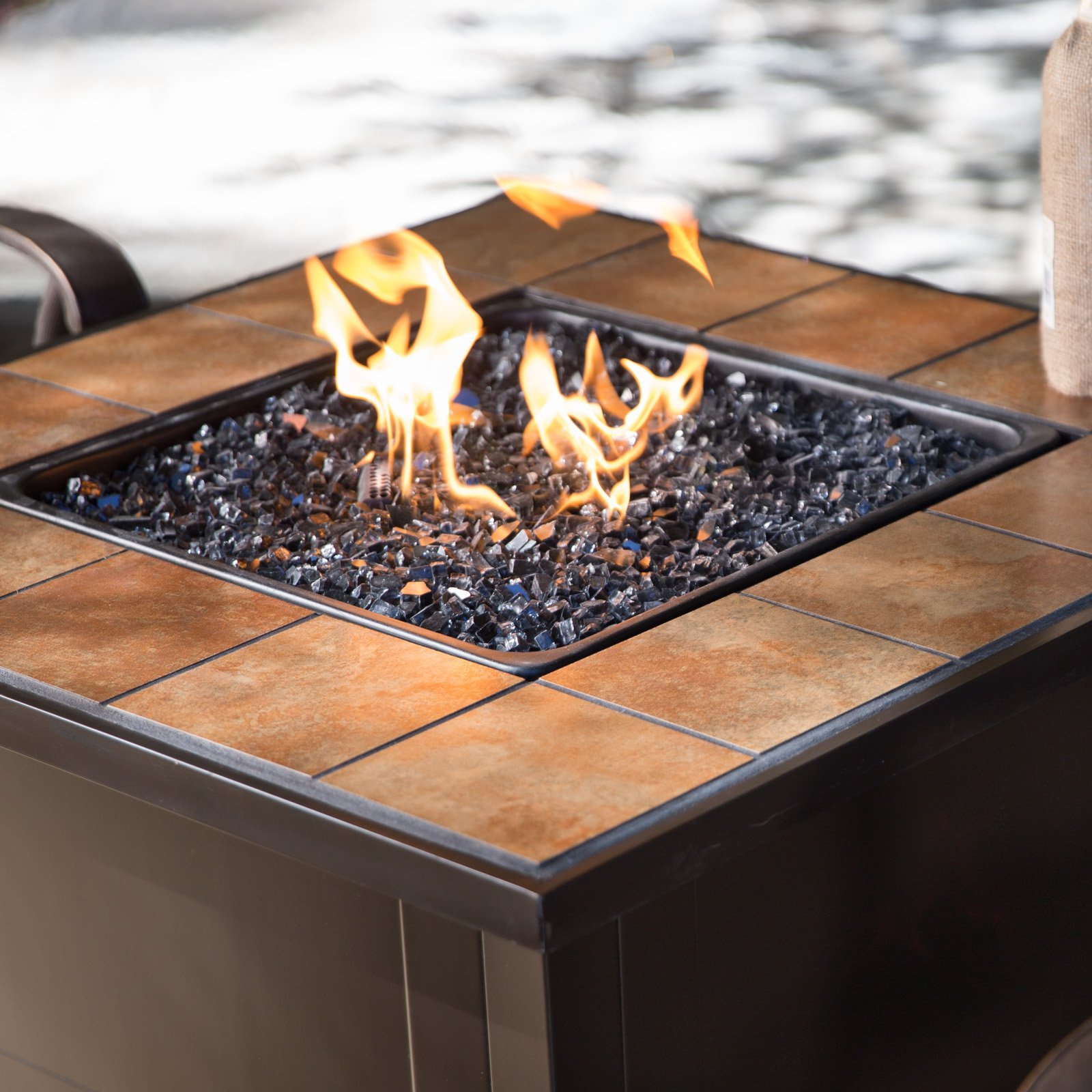 Red Ember Desert Sand 32 In Square Propane Fire Pit Table Walmart in sizing 1600 X 1600