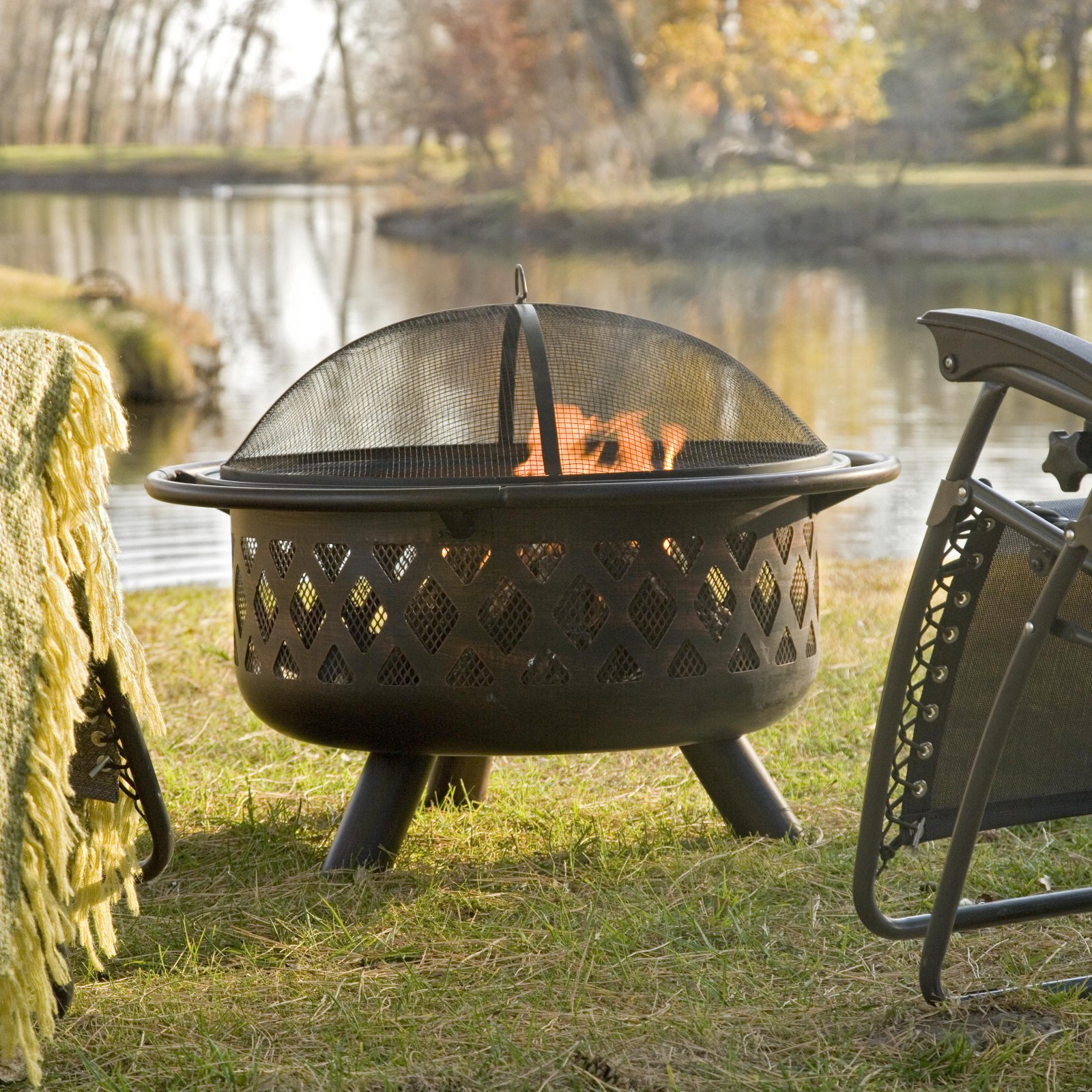 Red Ember Rubbed Bronze Crossweave 36 Inch Wood Burning Fire Pit intended for size 1600 X 1600