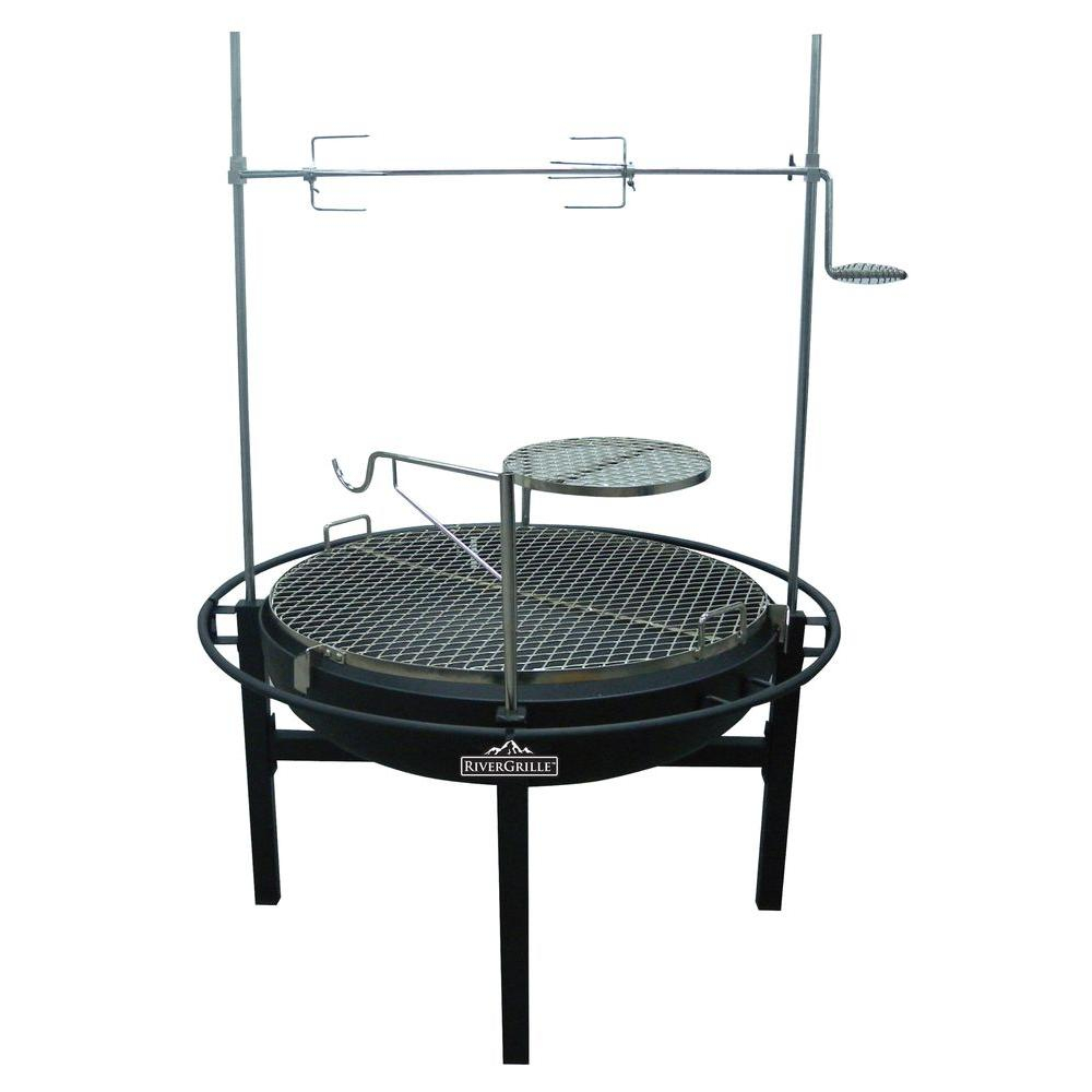Rivergrille Cowboy 31 In Charcoal Grill And Fire Pit Gr1038 014612 intended for dimensions 1000 X 1000