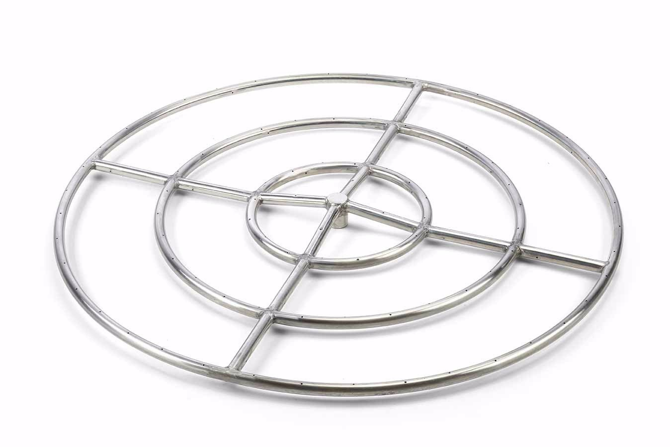 Round Fire Rings Stainless Hearth Products Controls Co intended for sizing 1348 X 899