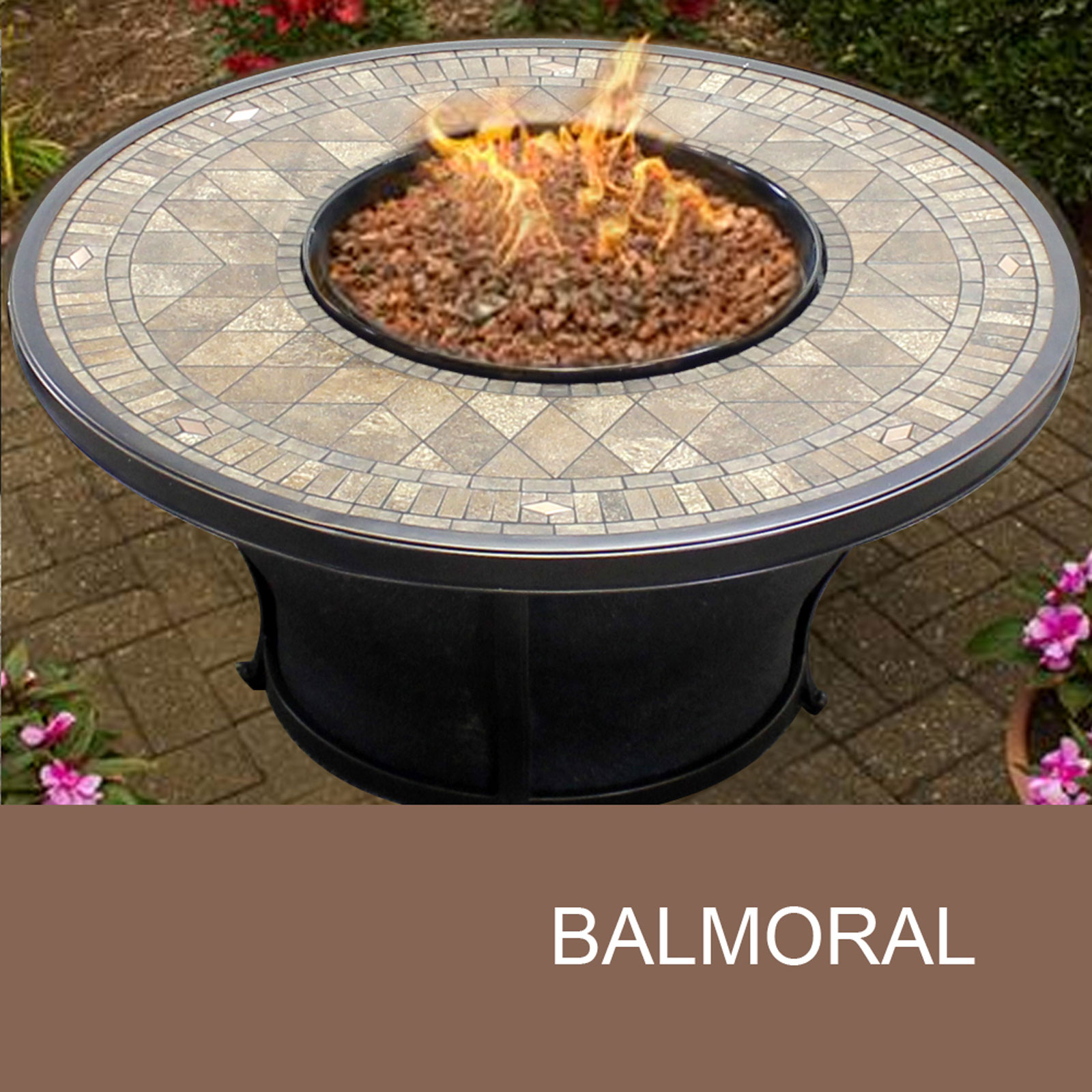 Round Fire Table Agio Balmoral Fire Pit Design Furnishings throughout dimensions 1600 X 1600