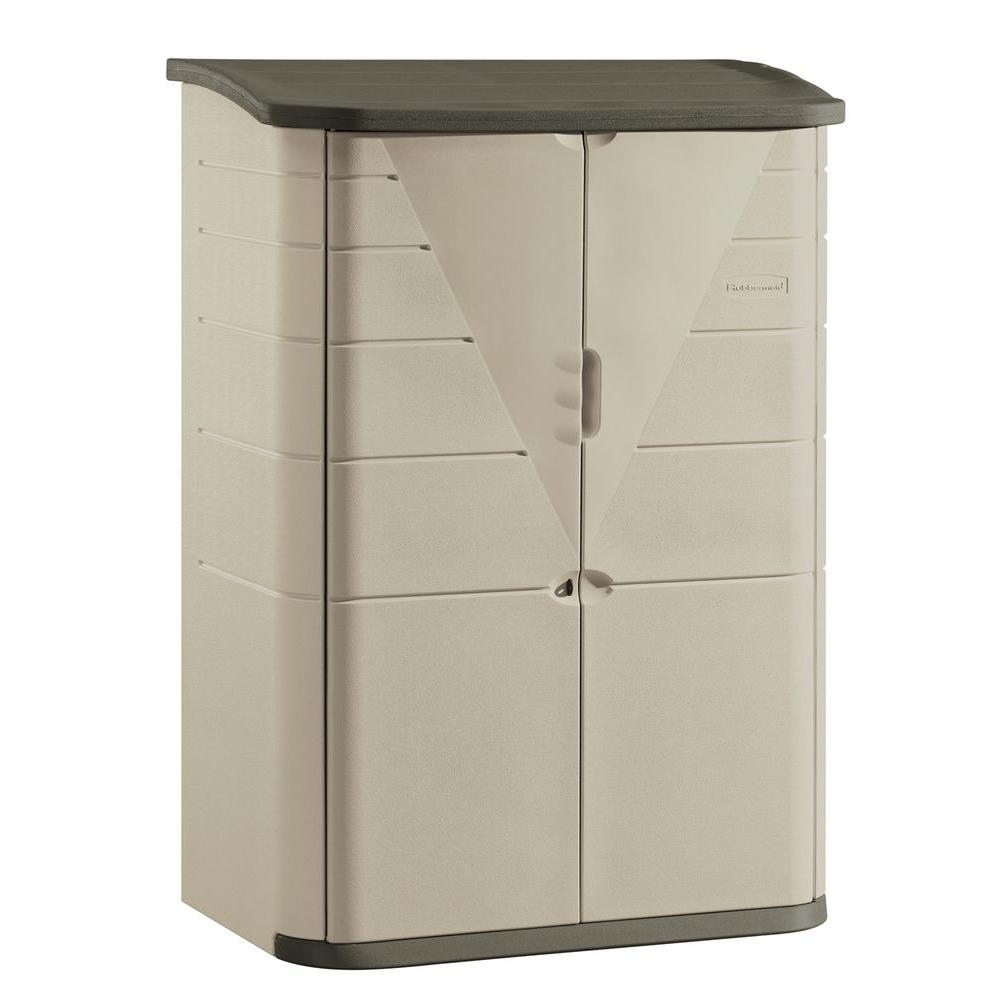 Rubbermaid 4 Ft 7 In X 2 Ft 7 In Large Vertical Resin Storage intended for proportions 1000 X 1000