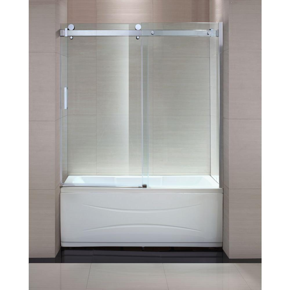 Schon Judy 60 In X 59 In Semi Framed Sliding Trackless Tub And intended for sizing 1000 X 1000