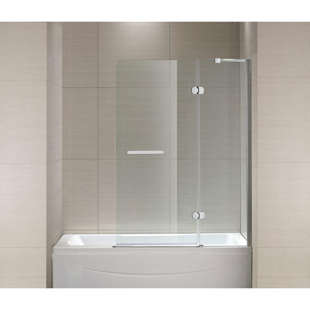 Schon Mia 40 In X 55 In Semi Framed Hinge Tub And Shower Door In inside sizing 1000 X 1000