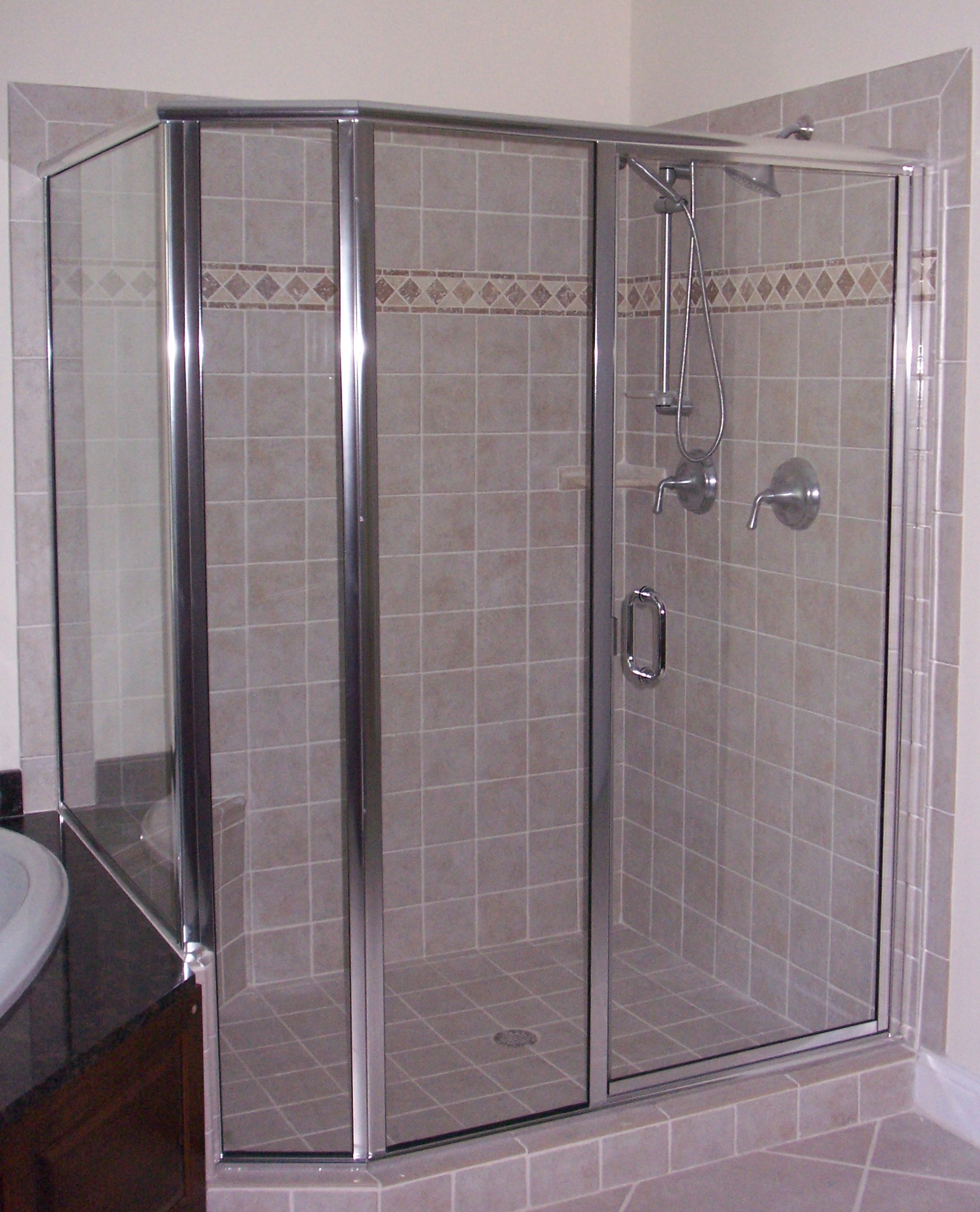 Semi Framed Glass Shower Door Strattonsociety pertaining to sizing 1784 X 2207