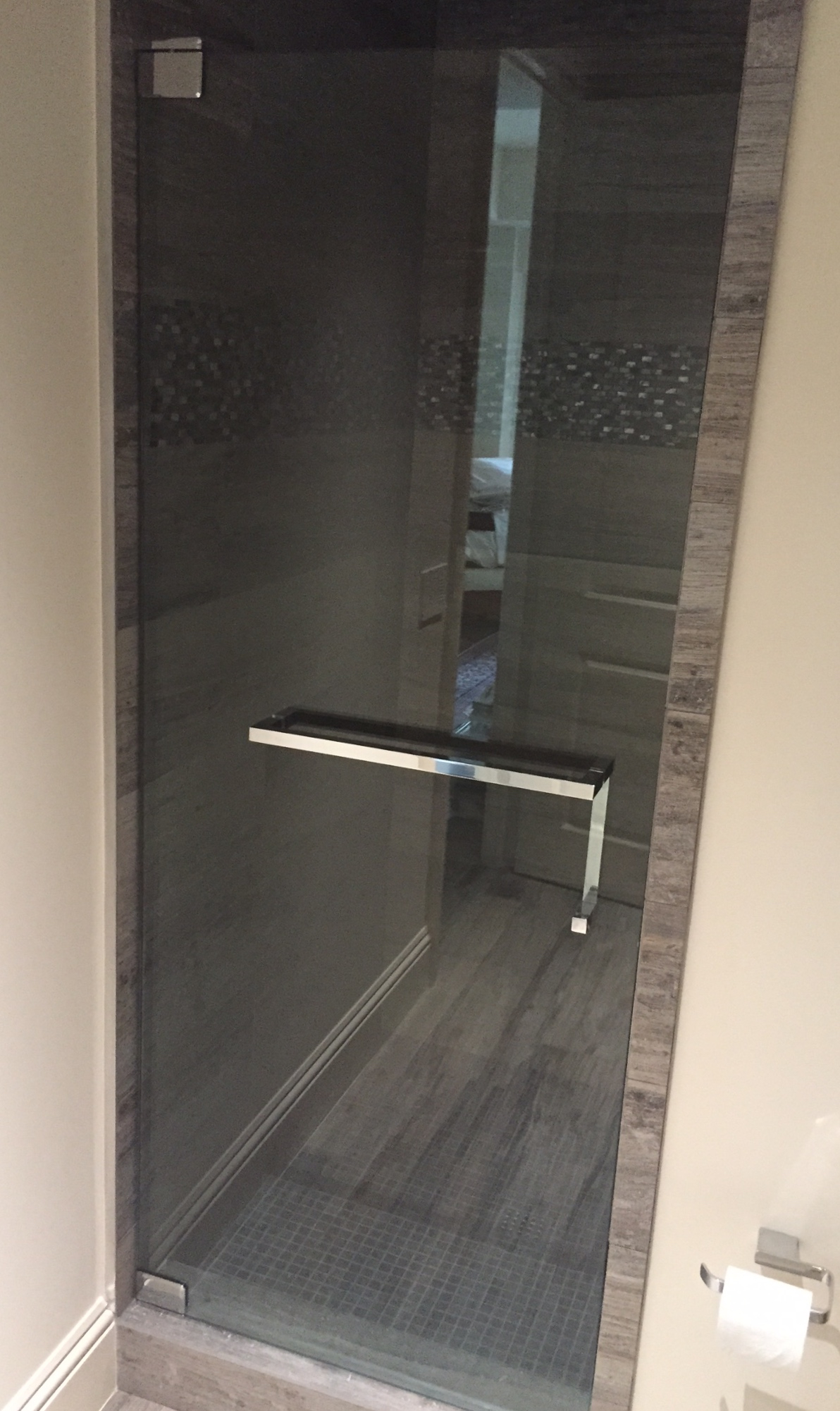 Shower Door Towel Bar Brilliant The Glass Shoppe A Division Of inside proportions 1192 X 2002