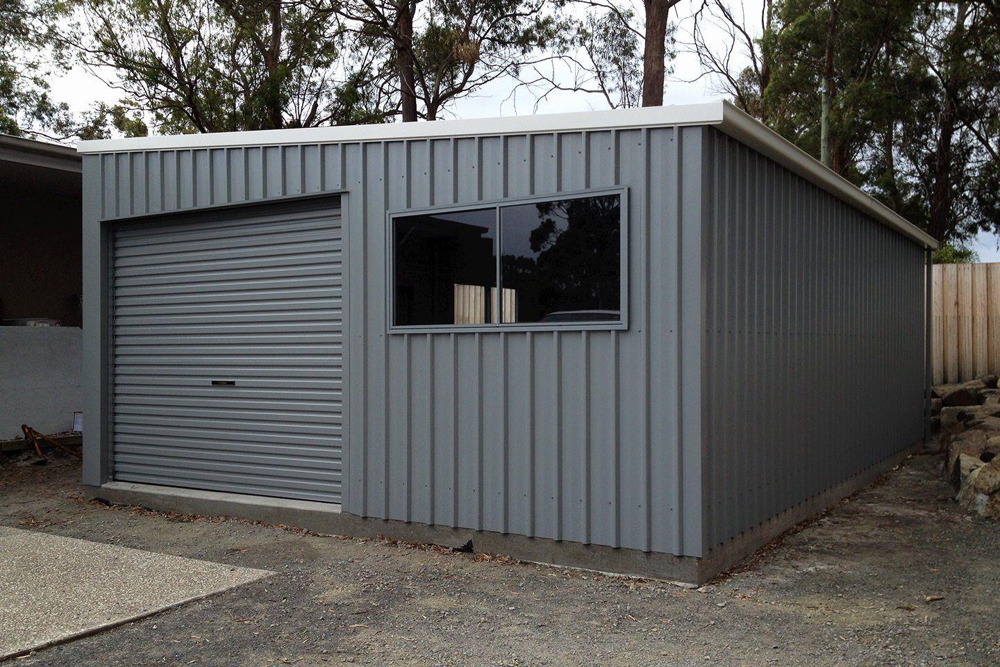 Skillion Roof Sheds And Garages Ranbuild within proportions 1440 X 960