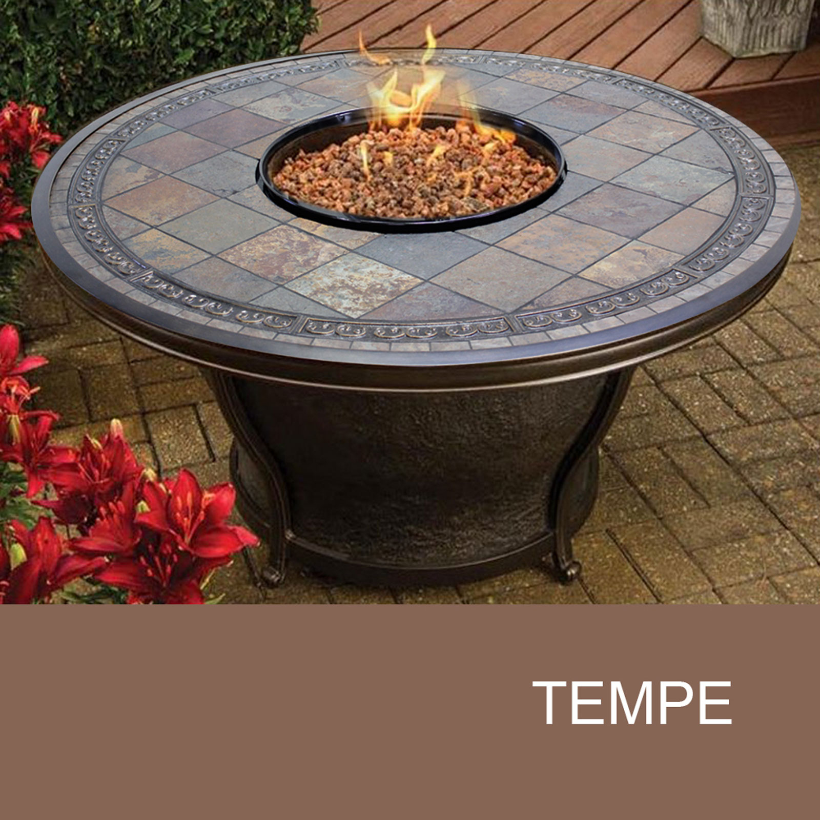 Slate Fire Pit Table Agio Tempe Fire Pit Design Furnishings pertaining to dimensions 1600 X 1600
