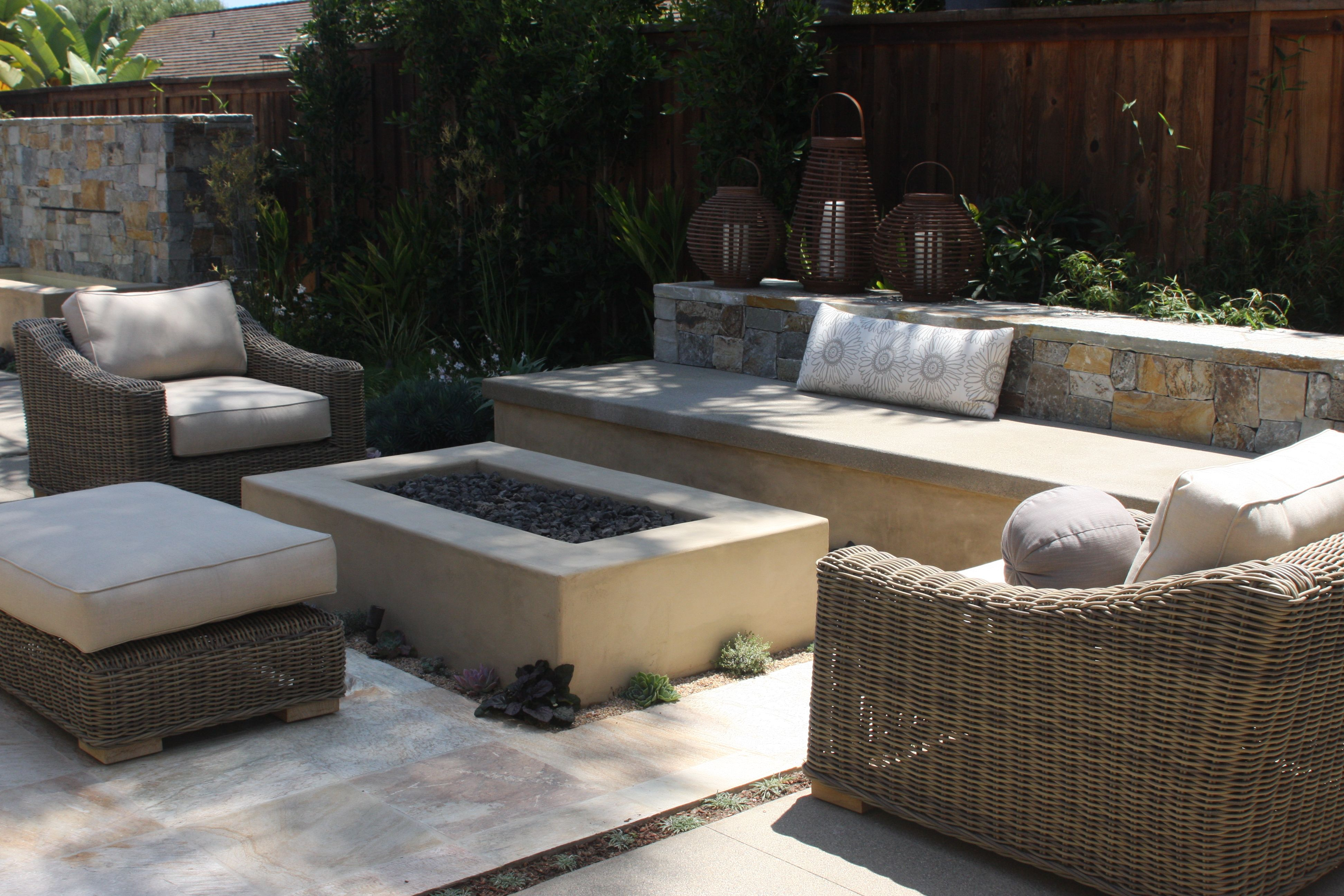 Smooth Stucco Fire Pit Dig Fire Pits Concrete Fire Pits Fire pertaining to sizing 3888 X 2592