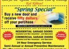 Spring Special Overhead Door for dimensions 980 X 1209
