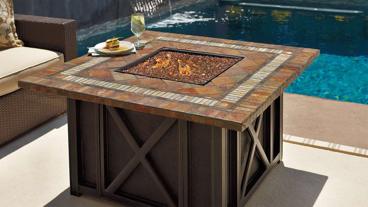 Springfield Gas Firepit From Frontgate Deck Patio Porch inside measurements 1280 X 720