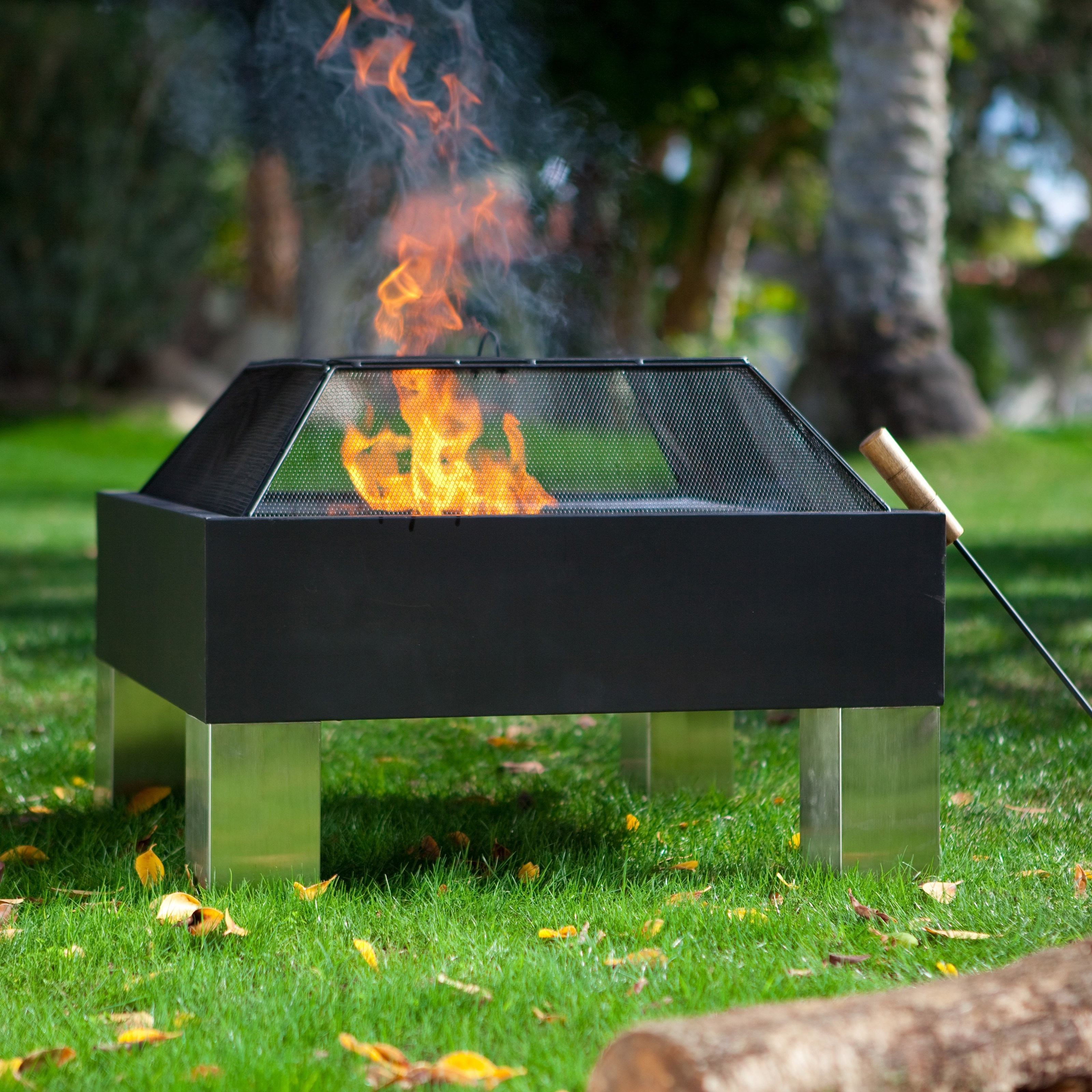 Square Metal Fire Pit Insert Firepit regarding proportions 3200 X 3200