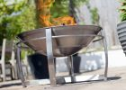 Stainless Steel Fire Bowl Patio Heater Savvysurfcouk regarding proportions 849 X 1200
