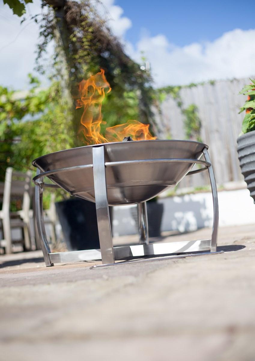 Stainless Steel Fire Bowl Patio Heater Savvysurfcouk regarding proportions 849 X 1200