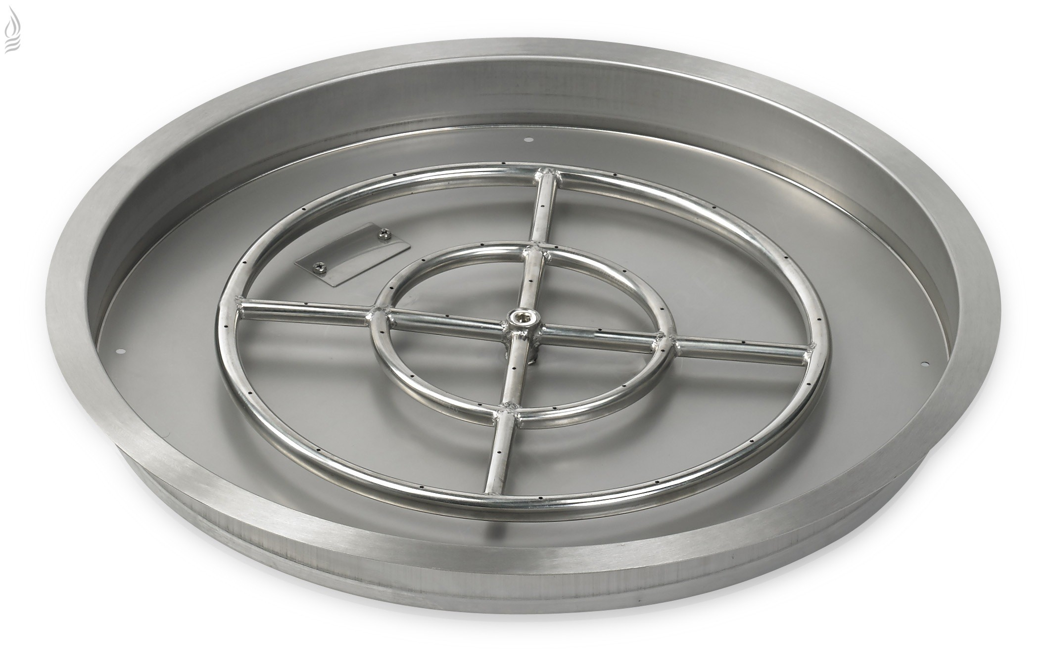 Stainless Steel Fire Pit Pan Drop In Fire Pit Allbackyardfun regarding proportions 2116 X 1351