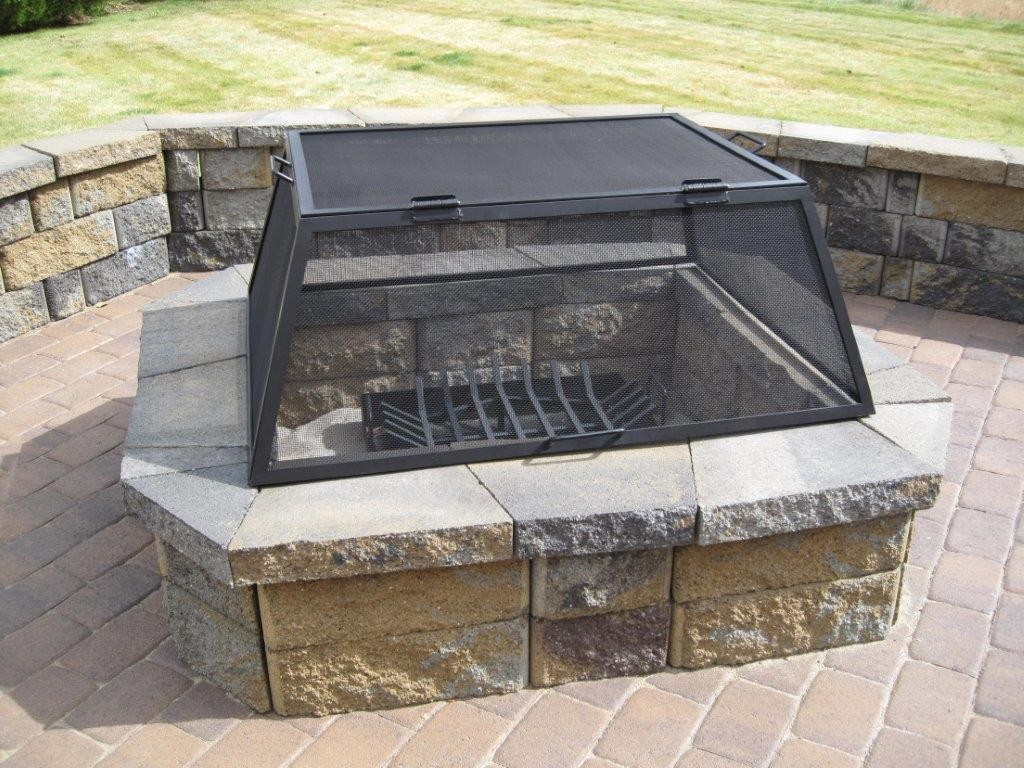 Stainless Steel Fire Pit Screens Ss Fire Pit Spark Screens throughout measurements 1024 X 768