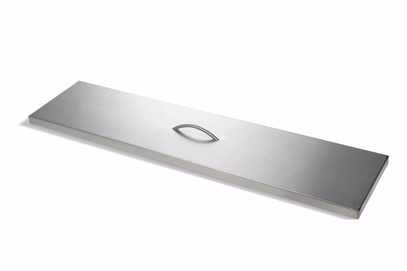 Stainless Steel Linear Fire Pit Covers Hearth Products Controls Co regarding sizing 1348 X 899