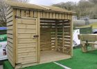Standard Log Stores 3m The Wooden Workshop Oakford Devon within dimensions 4000 X 2248