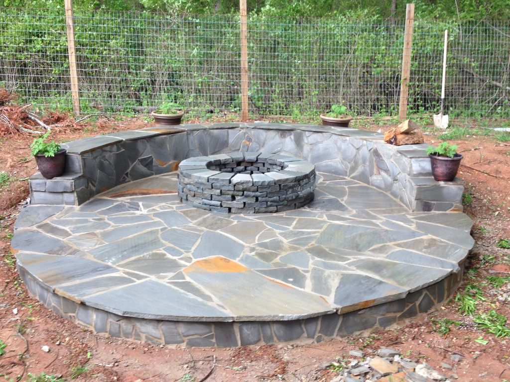 Stone Veneer Fire Pit Patio 11 Steps With Pictures throughout proportions 1024 X 768