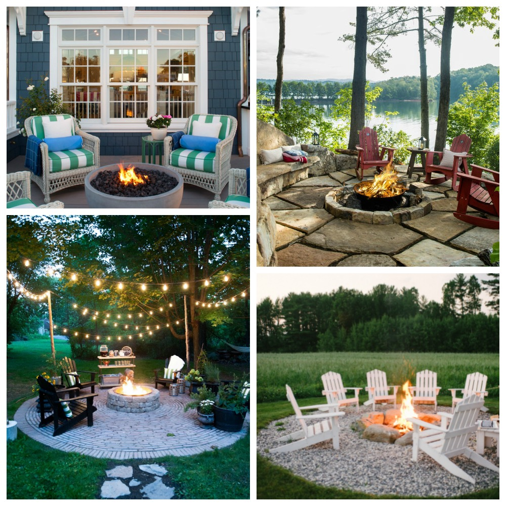 Stunning Inspiring Outdoor Fire Pit Areas The Happy Housie with sizing 1000 X 1000