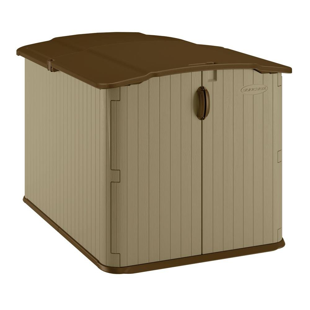 Suncast Glidetop 6 Ft 8 In X 4 Ft 10 In Resin Storage Shed for dimensions 1000 X 1000