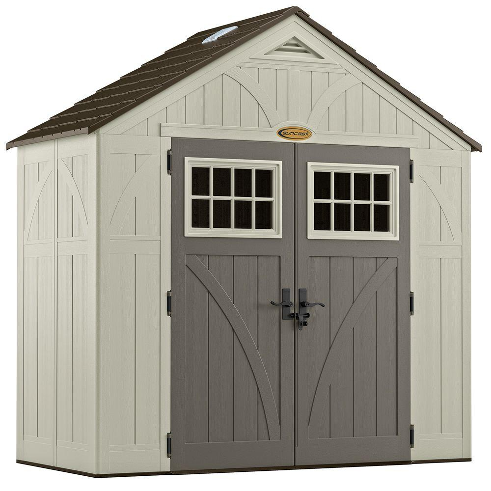 Suncast Tremont 4 Ft 34 In X 8 Ft 4 12 In Resin Storage Shed inside size 1000 X 1000