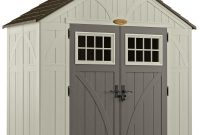 Suncast Tremont 4 Ft 34 In X 8 Ft 4 12 In Resin Storage Shed pertaining to measurements 1000 X 1000