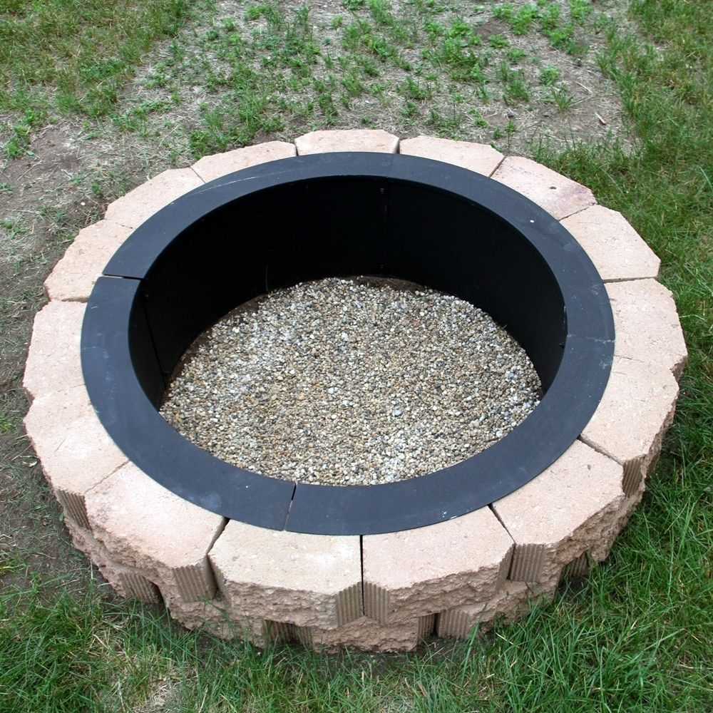 Sunnydaze Heavy Duty Fire Pit Ringliner Diy Fire Pit Above Or In for measurements 1000 X 1000